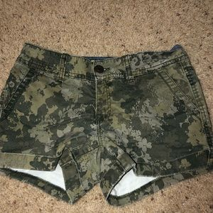 camo jean shorts from aropostale